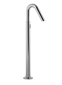 Goliath Roman Tub Floor Mount Bath Tub Filler With Shut Off ONLY Caché Flow  Straightener. An Extension For Extra Thick Floor Included (depth From The